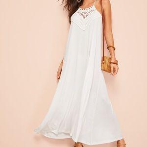 Dresses & Skirts - White crochet maxi dress